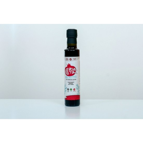 Pomegranate vinegar with herbs 250 ml - Aggelis Family